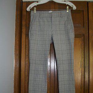 Gap Grey Plaid Skinny Ankle Pants